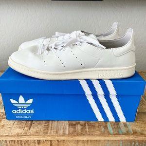 adidas Stan Smith Leather Sock Nubuck White 13